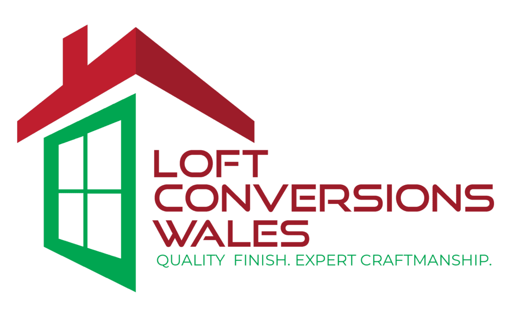loft conversion wales logo red and green